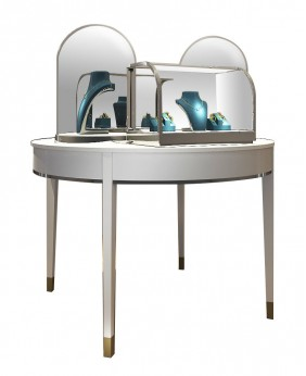 High End Luxury Table Top Glass Jewelry Display Cases