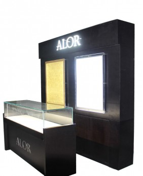 Luxury Wall Watch Showcase And Counter