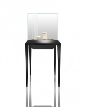 Glass Top Stand Up Upright Tower  Jewelry  Display Case