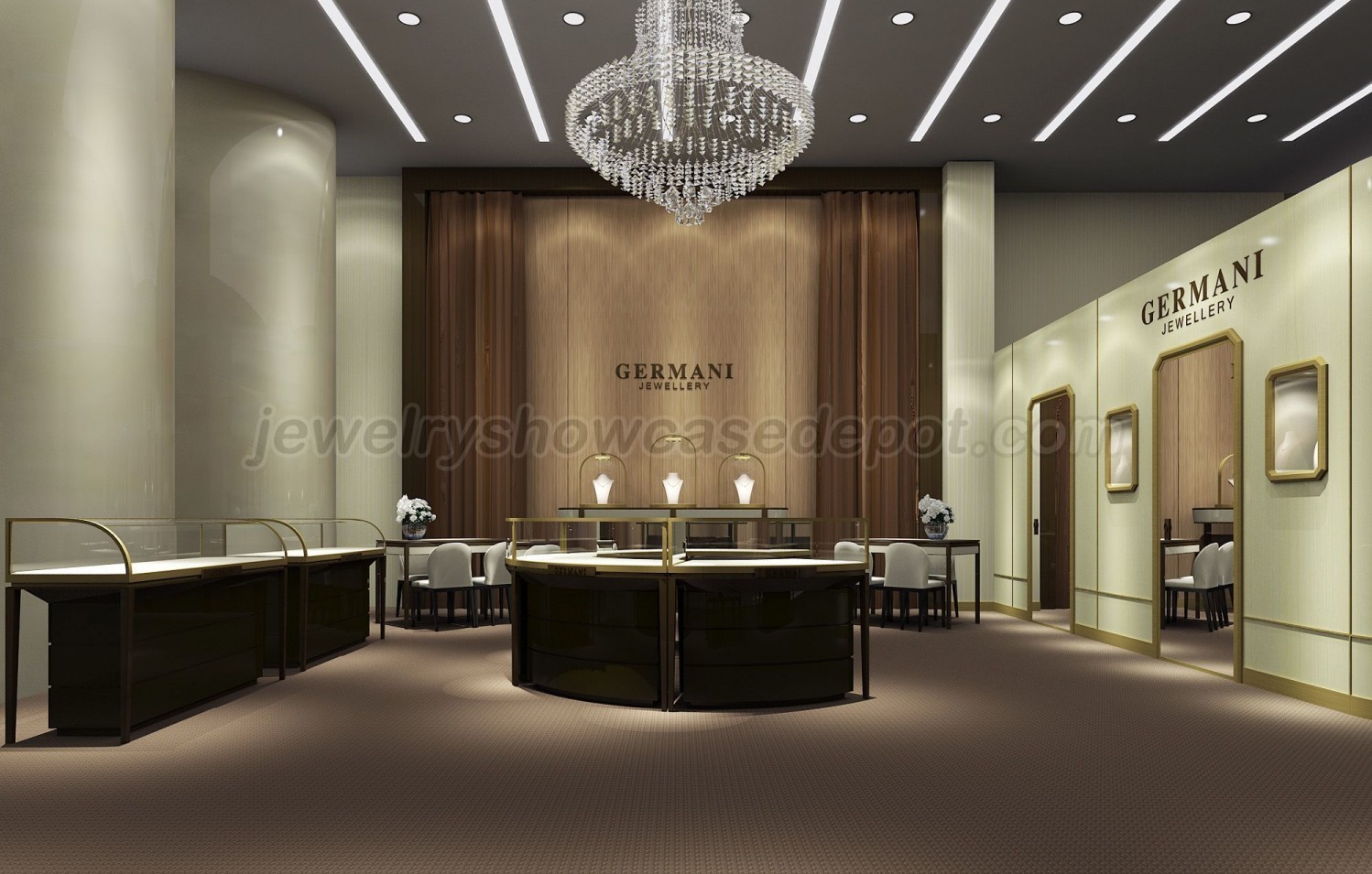Luxury Retail Jewellery Display Cabinets Jewelry