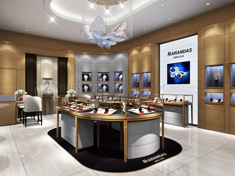 Luxury Retail Jewellery Display Cabinets Jewelry Showcase Depot