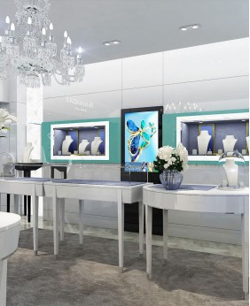 High End Retail Modern Jewelry Store Design