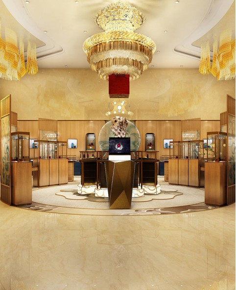 High End Innovative Jewelry Shop Display Design