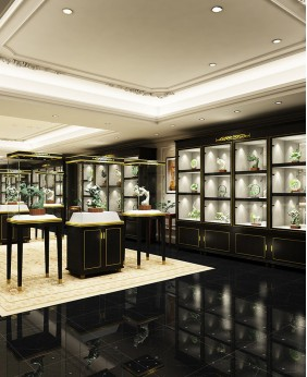 Luxury Retail Jade Jewelry Store Interior Design