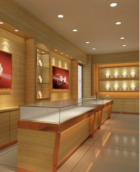 Luxury Gold Jewelry Store Design