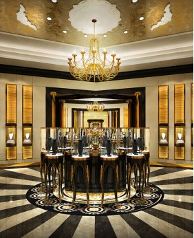 High End Luxury Jewelry Shop Counter Design