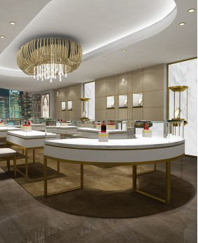 Luxury Retail Jewelry Shop Display Case Design