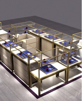 Luxury High End Jewelry Kiosk