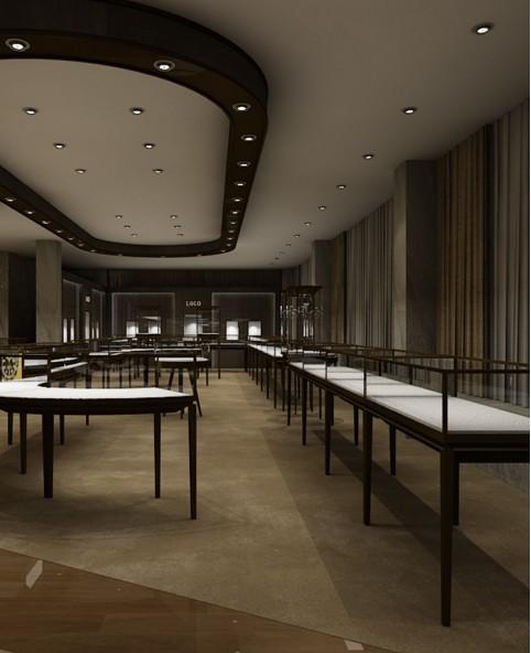 High End Luxury Jewelry Showroom Showcase Design