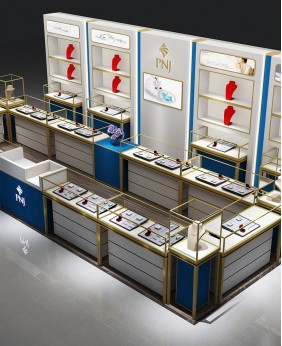 High End Creative Jewelry Shop Showcase Design