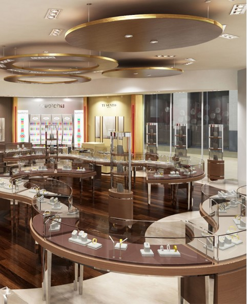 Luxury Retail Jewelry Shop Counter Design