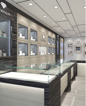 High End Watches Shop Display Design