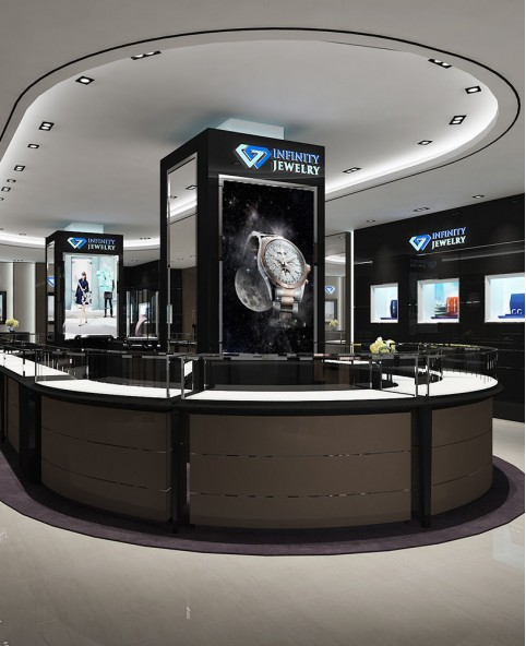 High End Luxury Jewelry Showroom Counter Design