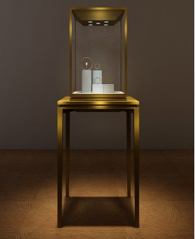 High End Luxury Middle Standing  Jewelry Display Showcase