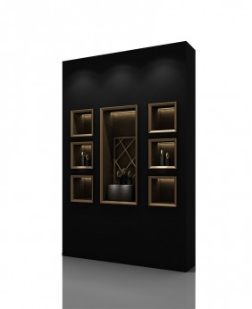 High End Wall Mounted Display Cabinet For Jewellery Store