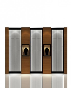High End Jewelry Wall Display Cases