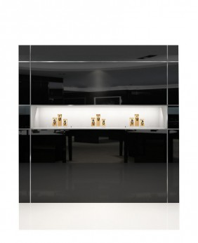 High End Jewelry Wall Mounted Display Case