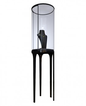 High End Luxury Round Free Standing  Jewelry Display Showcase