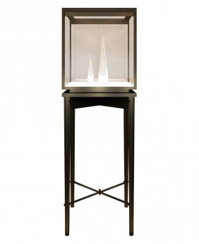 Black Glass Top Jewelry Display Showcases