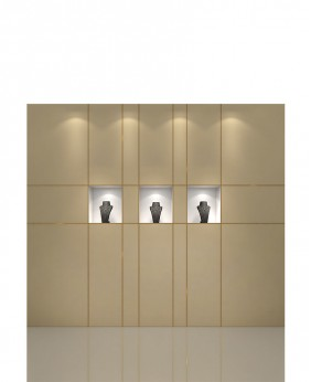 High End Jewelry Store Built In Wall Display Case