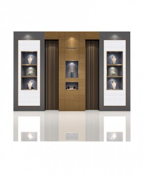 High End Jewelry Store Retail Wall Display Case
