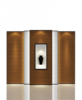 High End Commercial Jewelry Store Wall Mounted Display Case