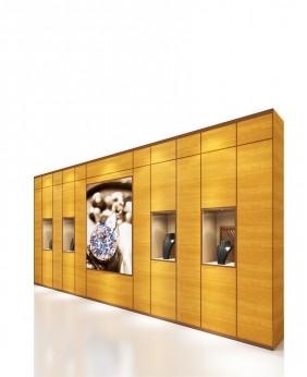 Wall Mount  Jewelry Display Showcase