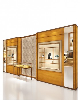 High End Jewelry Store Lighted Wall Display Case