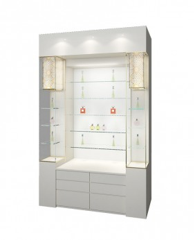 High End Glass Front Display Case Wall Mount