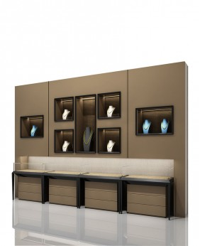 High End Jewellery Display Wall Cabinets