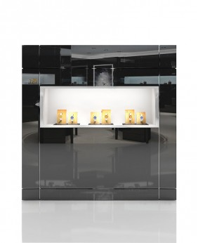 High End Glass Wall Display Case