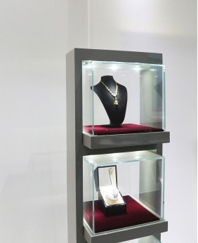 High End Free Standing Jewelry Tower Showcase