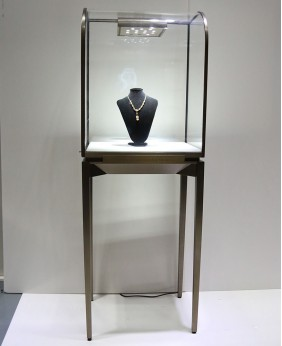Free Standing Temper Glass Jewellery Display Showcase