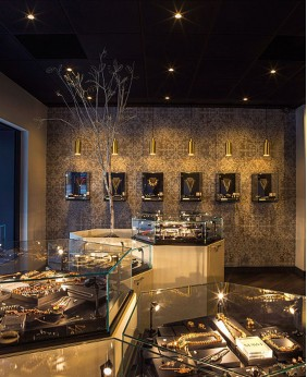 High End Creative Jewelry Shop Design