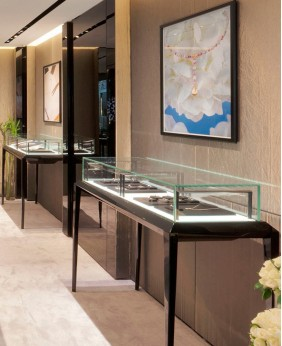 Black Glass Top Jewelry Display Case