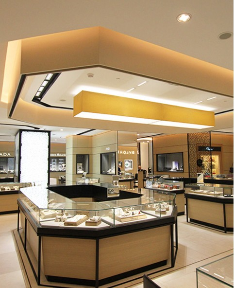 High End Wooden Mall Jewelry Kiosk Design | Jewelry Showcase