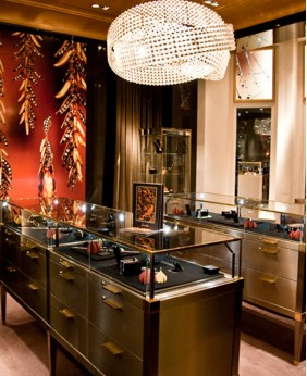 High End Glass Wooden Jewelry Store Display Cabinets