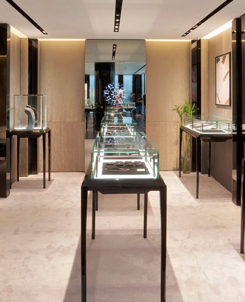 Black Glass Top Jewelry Display Case   Jewelry Showcase Depot