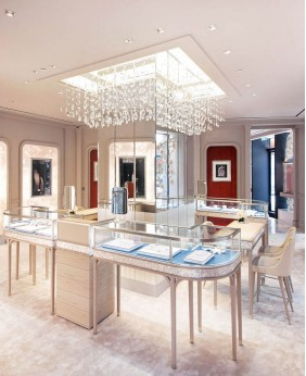 High End Diamond Jewelry Store Display Showcase