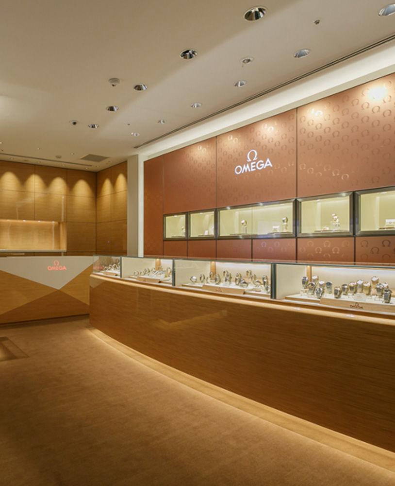 High end luxury watch store interior design jewelry showcase depot