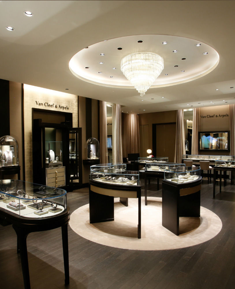 High End Display Counter Design For Jewellery Shop