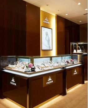 High End Watch Shop Display Counter Design