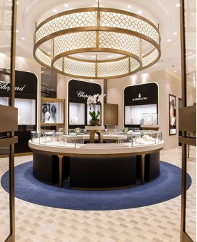 High End Jewellery Shop Interior Showcase Design