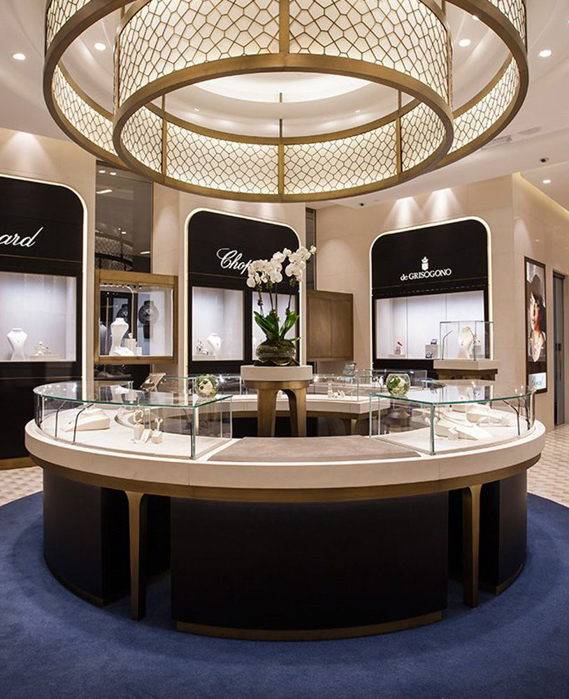 Interior Decor Stores: High End Jewellery Shop Interior Showcase Design