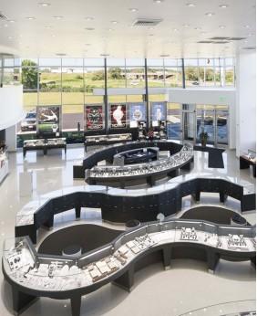 Duty Free  Jewelry Mall Display Kiosk