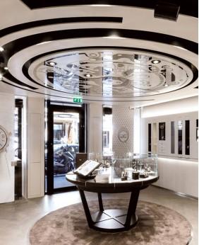 Luxury Retail Watch Shop Display Showcase