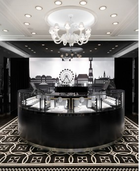 High End Watch Store Display Showcase