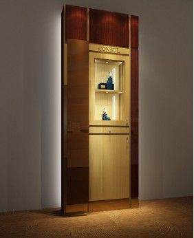 Luxury Tall Wall Watch Display Cabinet