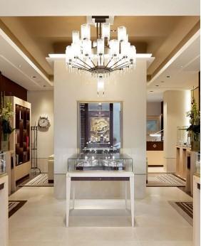 Luxury Retail Wooden Watch Store Display Cabinet