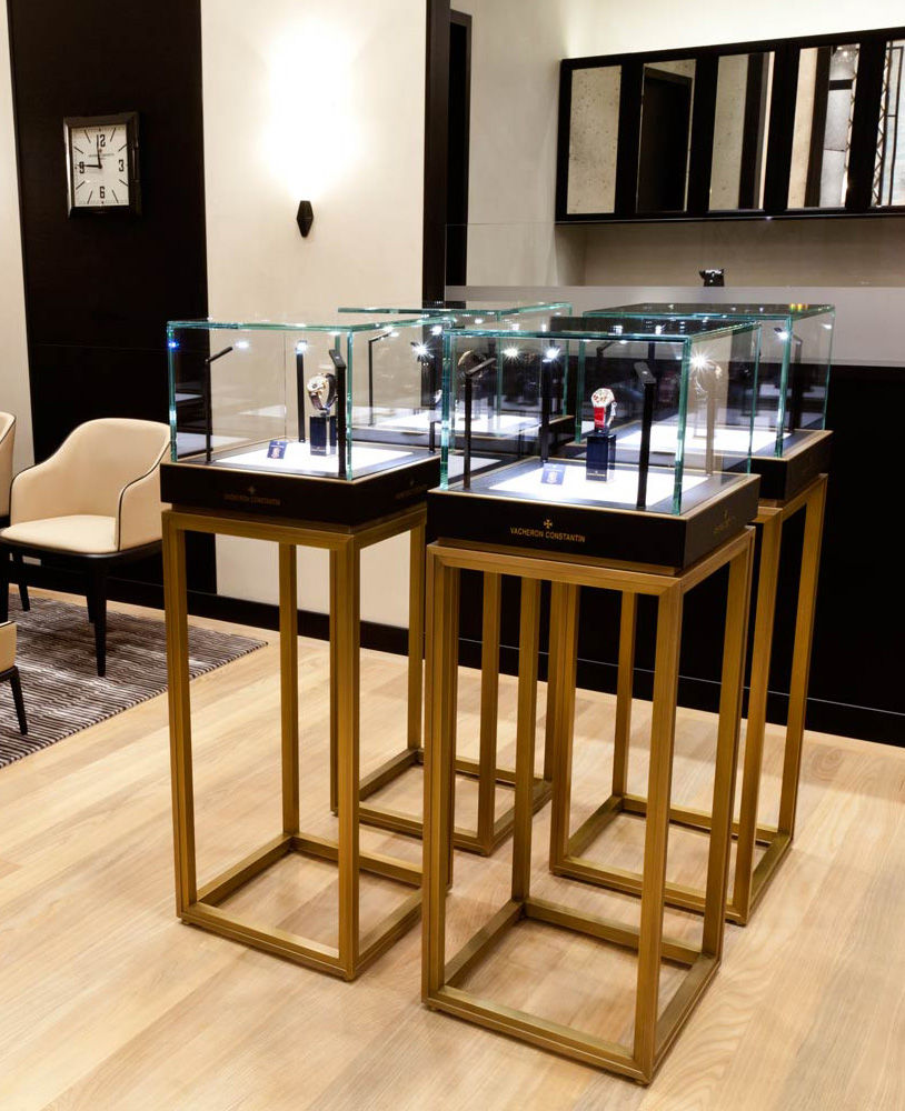 Store Display Furniture On Luxury Retail Wooden Watch Shop Display Showcase Store Furniture Jewelry Depot